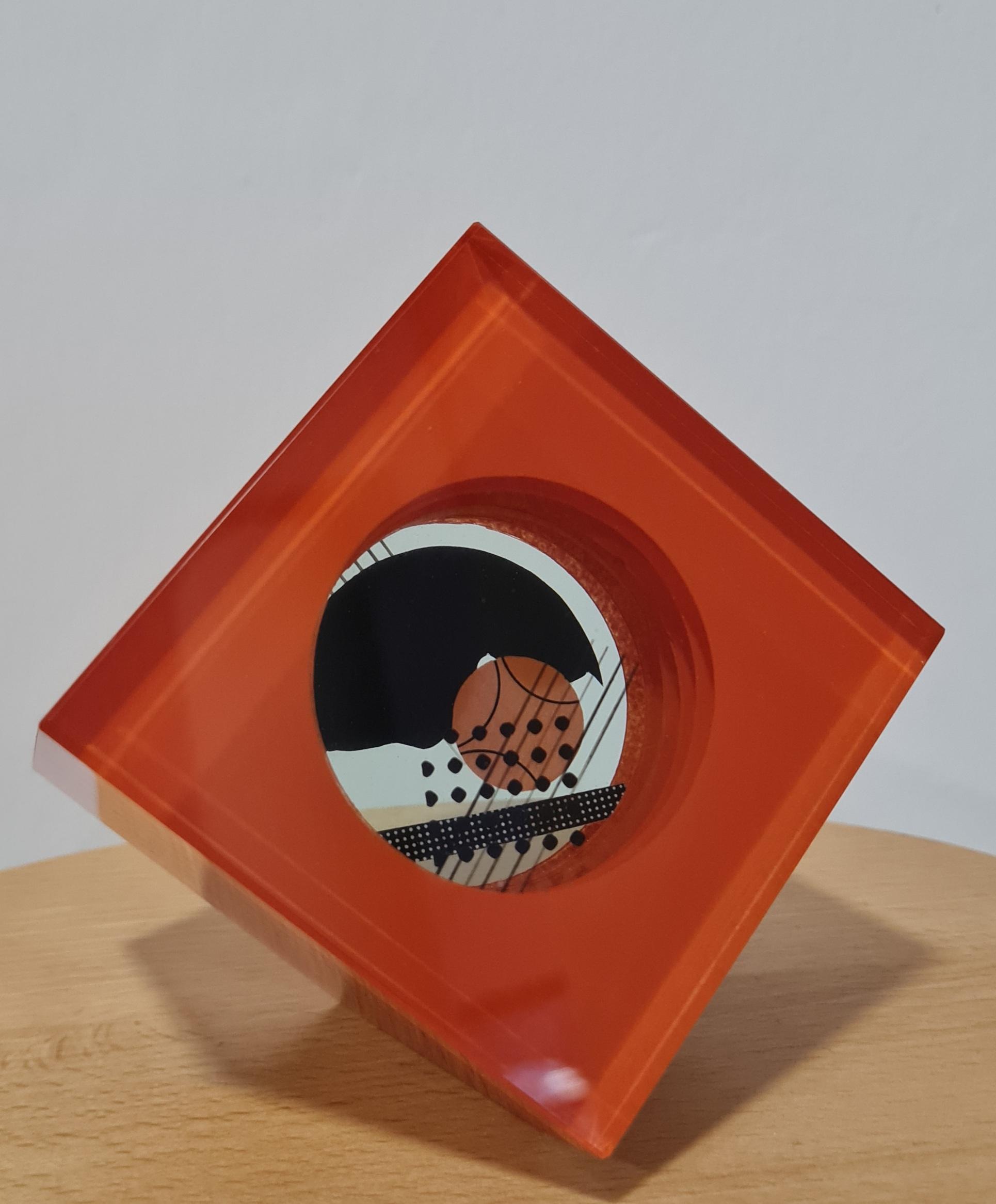 skleněný objekt, rozměr 8x8, rok 2012