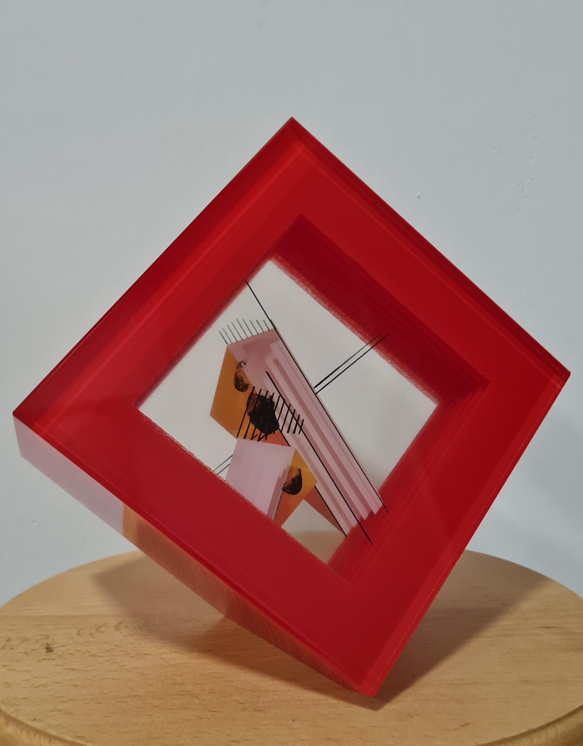 skleněný objekt, rozměr 15x15, rok 2012