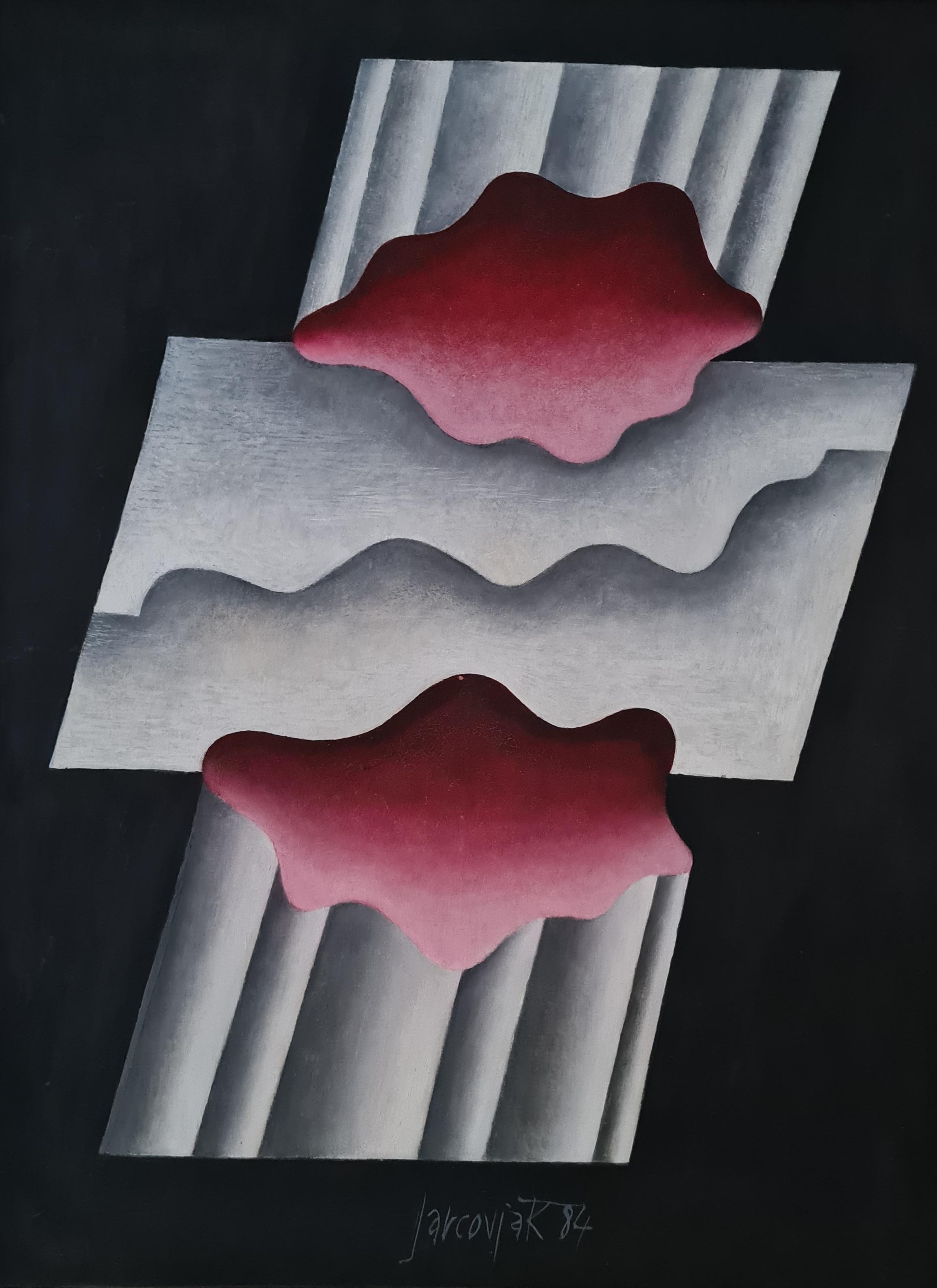 olej, sololit, rozměr 90x70, rok 1984